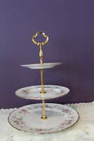PARAGON 'VICTORIANA ROSE THREE TIER CAKE / TIDBIT SERVER