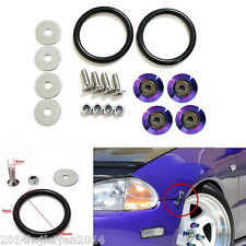 Neo Chrome Quick Release Fasteners For Car Bumpers Trunk Fender Hatch Lids Kit