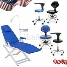 Dental Medical Portable Led Light Folding Examination Chair Silla Mobile Chair