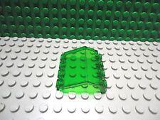 Lego 1 Trans Green curved window hatch door windshield