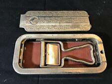 Old Vtg Rolls Razor Strop Honer & Blade Vault  The Whetter Made In England Metal