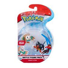 Pokémon Battle Figure Pack 2-Inch Rowlet vs Litten *BRAND NEW*