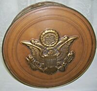 Antique Steven's Candy Tin Box with Presidential Seal and Presidents 1930's