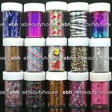 15 Rolls Mix colors Nail Art Transfer Foil Set Nail Tip Decoration #FB-B09-04
