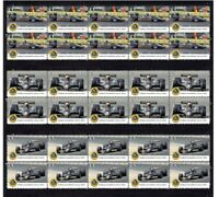 MARIO ANDRETTI 78 LOTUS F1 W/CHAMP SET OF 3 MINT VIGNETTE STAMPS