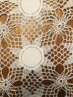 "Vintage Crochet Lace Doilies 12"" Set Of Four Sunflower Pattern. See Pictures."