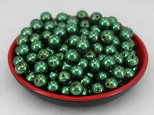 New Glass Pearl Round Spacer Loose Beads 8mm/50pcs Dark green