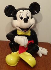 "Disney Mickey Mouse Ceramic Coin Bank 8"" Excellent Condition New Mint"