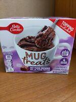 NEW BETTY CROCKER MUG TREATS HOT FUDGE BROWNIE MIX & FUDGE serves 4