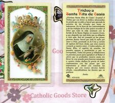 Triduo a Santa Rita de Casia -Spanish - Laminated Holy Card