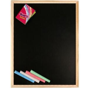 A4 Kids Chalkboard Set With Eraser Chalks Dry Wipe Blackboard Hanging Draw Board