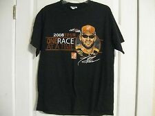 t-shirt black 2008 tour one race at a time home depot joe gibbs racing nascar