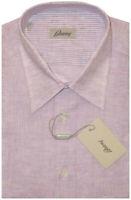 $575 NEW BRIONI LAVENDER SHORT SLEEVE SUMMER LINEN DRESS CAMP SHIRT III M 16