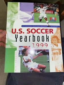 1999 US Women's Soccer Yearbook Mia Hamm Cover USA