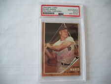 ROGER MARIS AUTOGRAPHED SIGNED 1962 TOPPS CARD #1 PSA AUTHENTICATED CERTIFIED