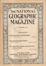 1913 National Geographic September - Egypt history is resurrected; Ibis; Abydos