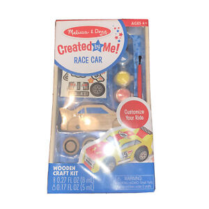 Melissa & Doug Created by Me! Race Car Wooden Craft Kit New