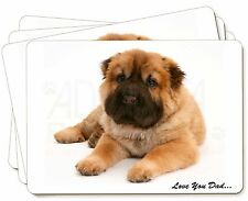 Bear Coat Shar-Pei 'Love You Dad' Picture Placemats in Gift Box, DAD-110P