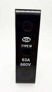 MEM TYPE M 63Amp Fuse Carrier 660v HRC Cartridge Holder 63A