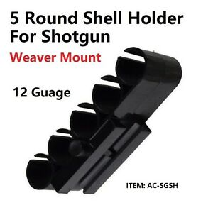 US Seller! Universal 12 Gauge Shotshell Carrier Shell Holder, Picatinny Rail