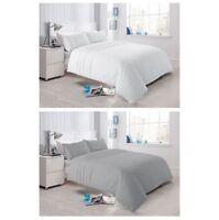 Olivia Rocco Laurent Pintuck Duvet Quilt Cover Set, Bed Linen Double King Size