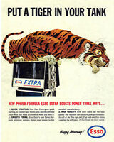 Esso Garage Tiger VINTAGE ENAMEL METAL TIN SIGN WALL PLAQUE