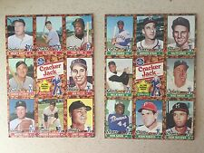1982 Cracker Jack All Time Greats Uncut Sheets  Mickey Mantle, Mays etc