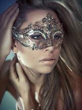 Elegant Metal Laser Cut Venetian Halloween Ball Masquerade Luxury Silver Mask