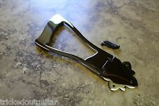 TOG ARCHTOP TAILPIECE BLACK NICKEL OPEN CENTER WITH SCREWS