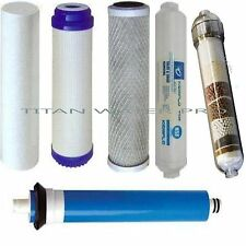 REVERSE OSMOSIS WATER FILTERS/MEMBRANE  6 PC Set-ALKALINE IONIZER NEG ORP-75 GPD