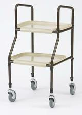 Adjustable Height Mobility Kitchen Trolley Walker Walking Aid Plastic Trays