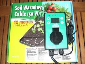 Teichheizkabel Heizkabel Teichheizung 150 Watt Set incl. Thermostat