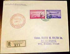 Reco Brief Triesenberg Liechtenstein Zeppelin New York 1936 913