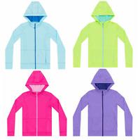 NEW Kirkland Signature Girls' Active Hooded Jacket - 4-Way Stretch - VARIETY