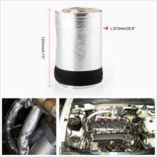 91X12cm Car Engine Tube Metallic Heat Shield Sleeve Insulated Wire Hose Cover