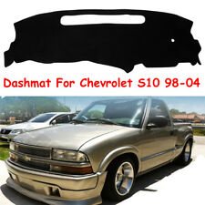 Black Dash Mat Dashmat For 1998-2004 Chevrolet S10 Fly5D Car Dashboard Cover Pad