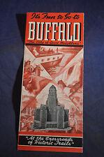 Ca 1937 *MINT* Its Fun to go to Buffalo City of Good Neighbors Brochure & Map