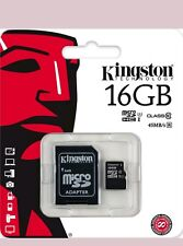 MICRO SD 16GB CLASS 10 CON ADATTATORE KINGSTON