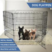 "36"" 6 Panel Pet Dog Playpen Exercise Cage Puppy Crate Enclosure Cat Rabbit Fence"