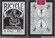 1 DECK Bicycle Black Tiger playing cards  FREE USA SHIPPING!