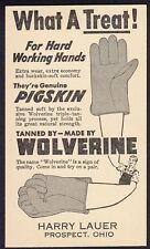 Wolverine Glove Ad Harry Lauer Ohio on USPS Postal card circa early 1900s unused