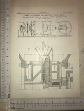 Ljungstrom Single Rotation Steam Turbine Sweden: 1912 Engineering Magazine Print