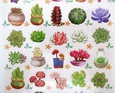 Japanese succulent stickers! Kawaii plant botanical nature garden cactus cute