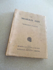 Vintage 1950s Morris Isis Series I & II automobile workshop manual