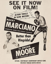 1955 Boxers ROCKY MARCIANO vs ARCHIE MOORE 8x10 Photo Boxing Heavyweight Match