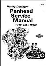 1948-1957 Panhead Harley-Davidson Rigid Service Manual On CD