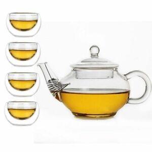 Heat Resistant Glass Teapot Mini Scented Tea Infusion Transparent Trumpet Kettle