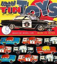 9 Magnifique Petite Tôle voitures Japon 60er Toyota Mini Tin Toy Cars en sachet