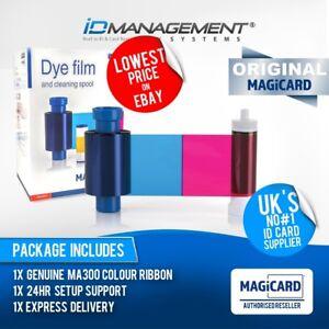 Magicard EN1 ID Card Printer Ribbon for Pronto/Enduro/Rio MA300YMCKO 300 Prints