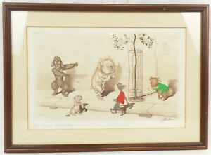 """Boris O'Klein, The Dirty Dogs Of Paris """"Did They Grill it For Us!"""" Signed Framed"""